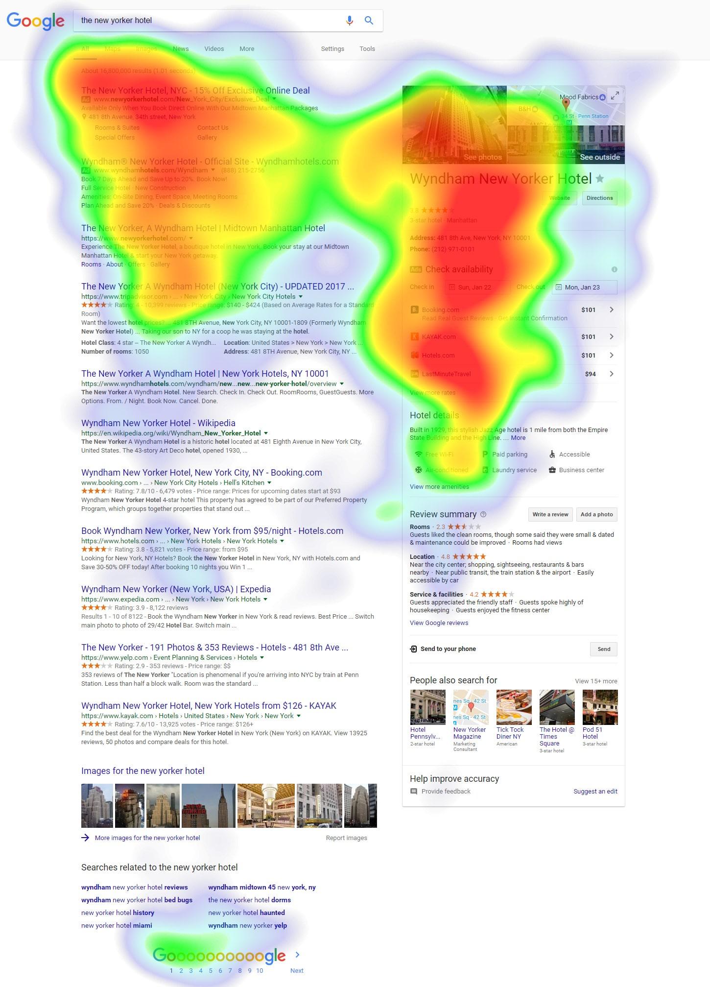 نقشه گرمایی گوگل، جاهایی که کاربران بیشترین کلیک را میکنند